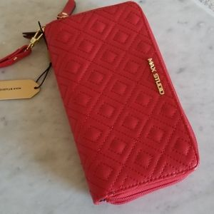 max studio wristlet wallet indie red